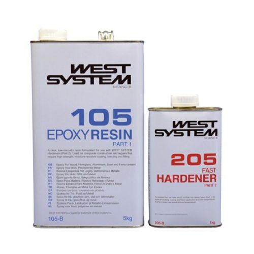 West System Epoxy B Pack 105/205 6kg Ratio 5:1 Wood GRP Bonding